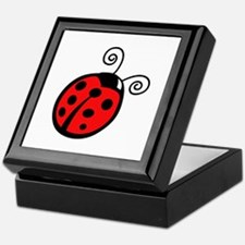 LADYBUG APPLIQUE Keepsake Box