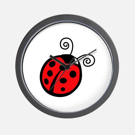 LADYBUG APPLIQUE Wall Clock