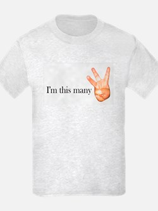 I'm this many kids light t-shirt