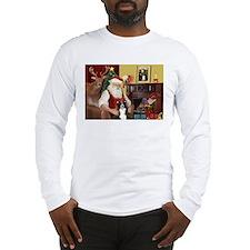Santa's Border Collie Long Sleeve T-Shirt