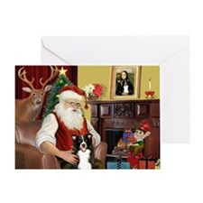 Santa's Border Collie Greeting Card