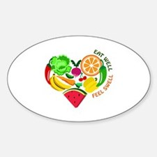 eat well feel swell Decal