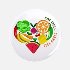 "eat well feel swell 3.5"" Button (100 pack)"