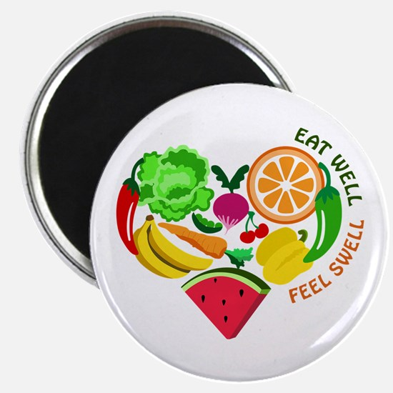 eat well feel swell Magnets