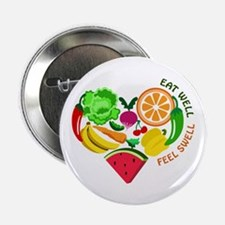 """eat well feel swell 2.25"""" Button (10 pack)"""