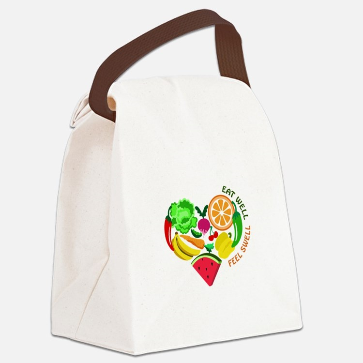 eat well feel swell Canvas Lunch Bag