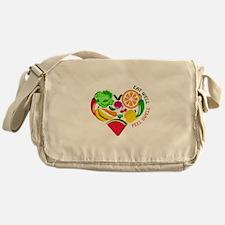 eat well feel swell Messenger Bag