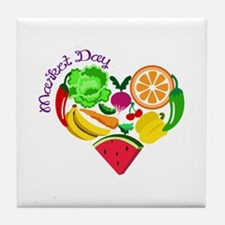 market day Tile Coaster