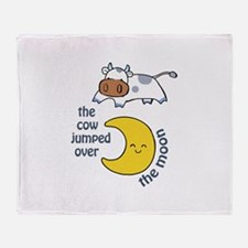 cow jumped over the moon Throw Blanket