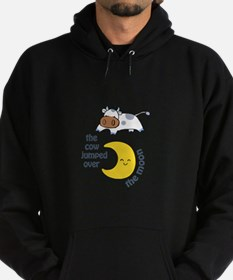 cow jumped over the moon Hoodie