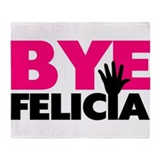 Bye Felicia Hand Wave Throw Blanket