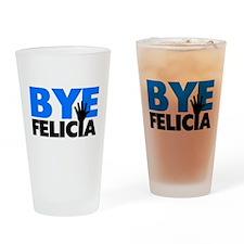 Bye Felicia Hand Wave Bold Blue Drinking Glass