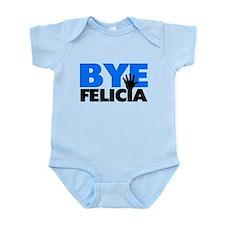Bye Felicia Hand Wave Bold Blue Infant Bodysuit