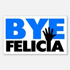 Bye Felicia Hand Wave Bold Blu Decal