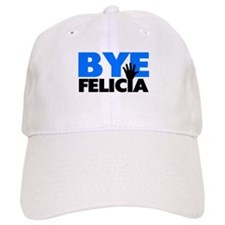 Bye Felicia Hand Wave Bold Blue Baseball Cap