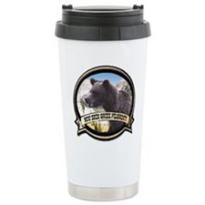 Unique Grizzly bear Travel Mug