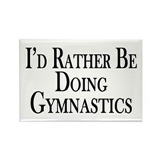 Rather Be Doing Gymnast Rectangle Magnet (10 pack)