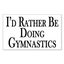Rather Be Doing Gymnastics Decal
