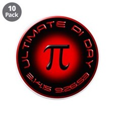 """Ultimate Pi Day 2015 3.14.15 3.5"""" Button (10 pack)"""