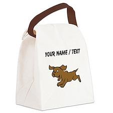 Custom Puppy Canvas Lunch Bag