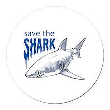 SAVE THE SHARK Round Car Magnet