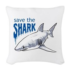 SAVE THE SHARK Woven Throw Pillow