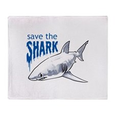 SAVE THE SHARK Throw Blanket