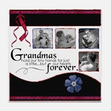 grandmas hold our hearts Tile Coaster