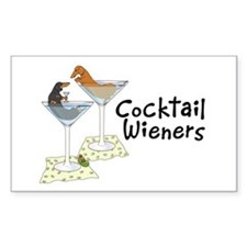 Cocktail Wieners (duo) Rectangle Decal