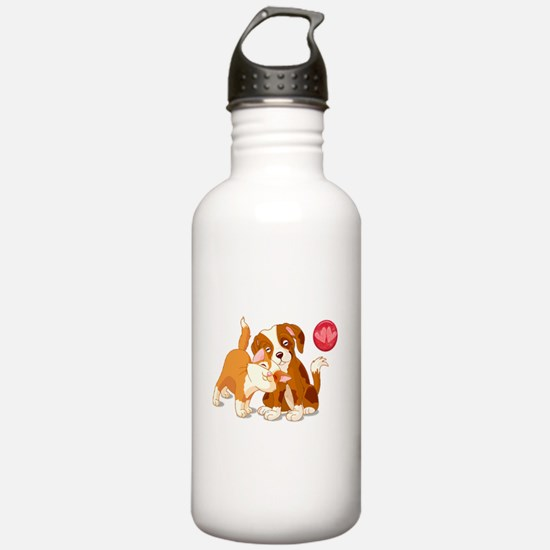 Cat and Dog Pals Water Bottle