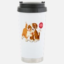 Cat and Dog Pals Travel Mug