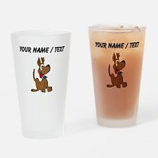 Custom Happy Dog Drinking Glass
