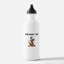 Custom Happy Dog Water Bottle