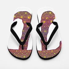 Psy Pi - Psychedelic Pi Flip Flops