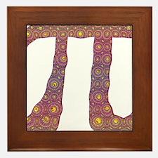 Psy Pi - Psychedelic Pi Framed Tile