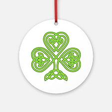 Celtic Shamrock Round Ornament