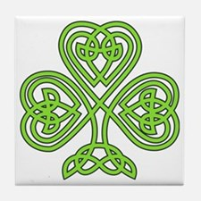 Celtic Shamrock Tile Coaster