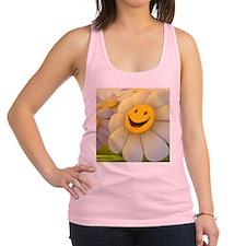 Smiley flower Racerback Tank Top