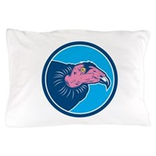 Vulture Head Circle Retro Pillow Case