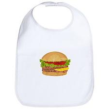 Hamburger Low Polygon Bib