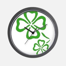 Four Leaf Clover Outline Wall Clock