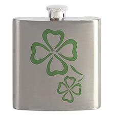 Four Leaf Clover Outline Flask