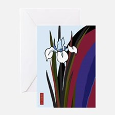 Colorful Iris Japanese Design Greeting Card