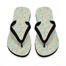 Jazzy Math Symbols Flip Flops