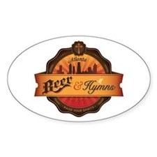 Beer and Hymns LARGE Decal