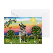 Norwegian Elkhound Country Greeting Card