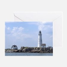 Boston Lighthouse Greeting Card