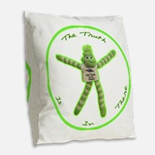 The Truth Is In There Burlap Throw Pillow