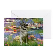 Lilies & Elkhound Greeting Cards (Pk of 20)