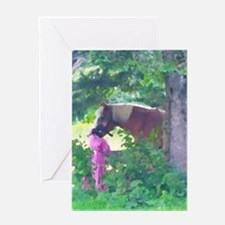 Girl with Horse Greeting Card